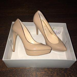 Jessica Simpson beige heels 👠